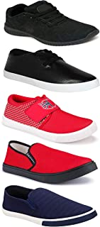 WORLD WEAR FOOTWEAR Sports Running Shoes/Casual/Sneakers/Loafers Shoes for MenMulticolors (Combo-(5)-1219-1221-1140-748-1017)