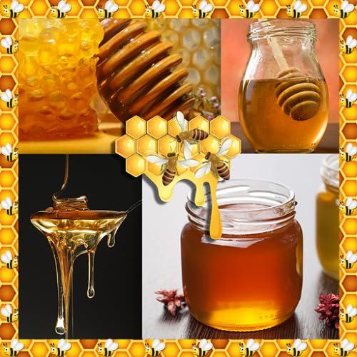 Collage de fotos de miel