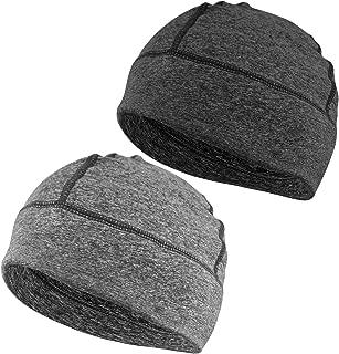 Skull Cap, Men & Women Multifunctional Headwear Hard Hat Helmet Liner Cotton Beanie Sleep Caps - 2 Pack