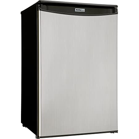 Danby DCR033B1SLM-6 Black and Stainless 3.3 cu ft Compact Refrigerator