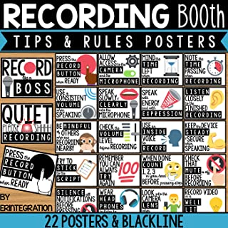 Recording Tips for the Classroom Bulletin Board Set - 22 Posters - 2 Signs - 2 Styles