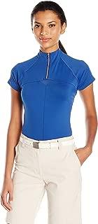 Cutter & Buck Women's Moisture Wicking, UPF 50+, Cap-Sleeve Above Board Mock Active Shirt