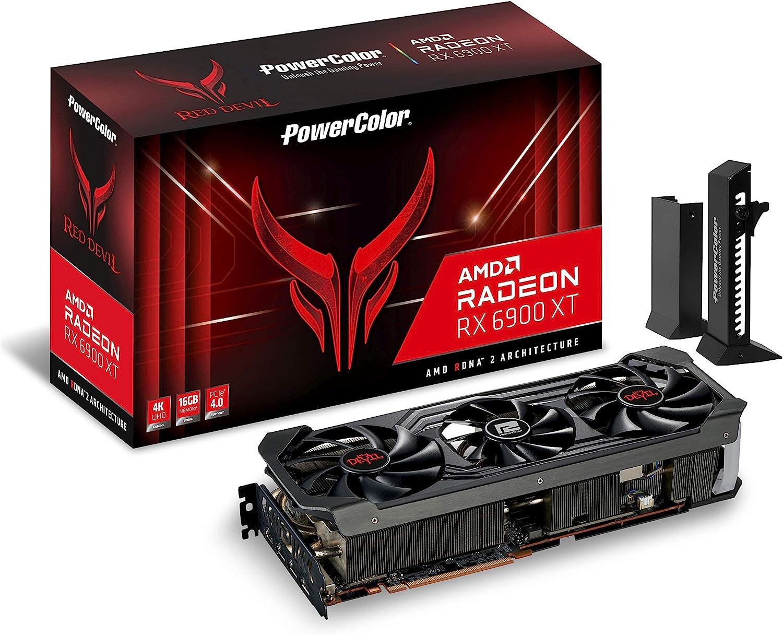 PowerColor Red Devil AMD Radeon™ RX 6900 XT Tarjeta gráfica para Juegos con  Memoria GDDR6 de 16 GB, con tecnología AMD RDNA™ 2, Raytracing, PCI Express  4.0, HDMI 2.1, AMD Infinity Cache : Amazon.es: Informática