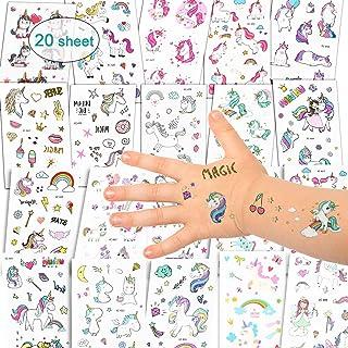 Etiquetas adhesivas Unicornio Tatuajes Temporales -