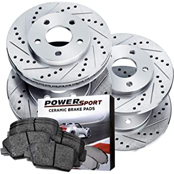 Full Kit Cross-Drilled Slotted Brake Rotors and Ceramic Brake Pads BLCC.46025.02
