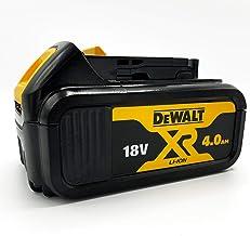 DeWalt Reserveaccu 18,0 volt/4,0 Ah XR Li-Ion (compatibel met alle 18,0 volt XR accumachines van DeWalt, led-accu-indicato...