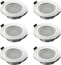 SEBSON 6x Inbouwspot Badkamer IP44 incl. GU10 Fitting (LED/Halogeen) - Boorgat Ø70mm, Zilver Mat Aluminium, Plafondspot Ø9...