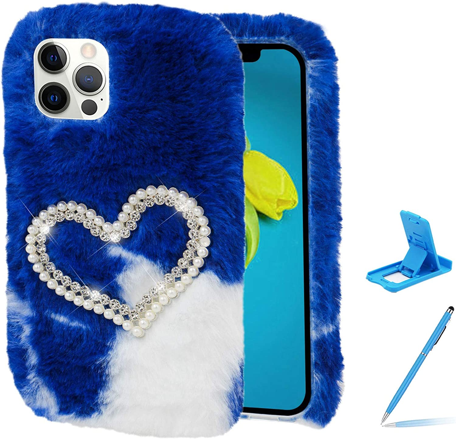 Herzzer Chic Winter Beauty products Warm Plush Furry No Department store for Galaxy Samsung Cover