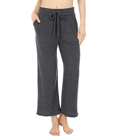 Beyond Yoga Waffle Knit Wide Leg High Waisted Cropped Sweatpants