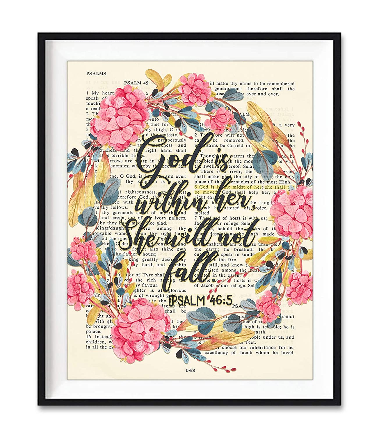 God Is Within High order Her She Will Not Industry No. 1 46:5 Fall Art Unf Psalm Print