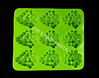 UG LAND INDIA 9 Cavity 3D Grapes Silicone Mold for Making Soap Mold, Rectangle Cake Baking Mold, Chocolate Mold Resin Mold...