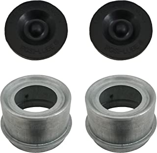 "Rockwell American Posi-Lube Grease Cap Set - Fits Most 5,200 lb Axles - 2.44"" OD - Galvanized"