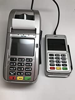 First Data FD150 EMV CTLS Credit Card Terminal and RP10 PIN Pad with Wells 350 EncryptionBundle