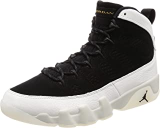 Jordan Men's Air 9 Retro, Black/Summit White-Black-Metallic Gold