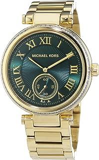 MK6065 Ladies Skylar Green Gold Watch