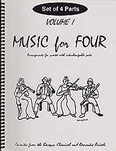 Music for Four, Volume 1 - Baroque, Classical & Romantic Favorites SET of 4 PARTS (for String Quartet - 2 Violins, Viola, Cello)
