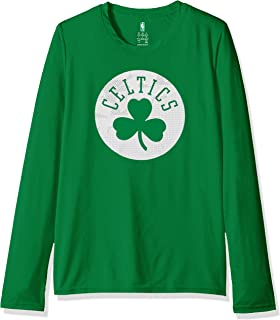 Outerstuff NBA NBA Kids & Youth Boys Boston Celtics Defensive Long Sleeve Dri Tek Tee, Kelly Green, Kids Medium(5-6)