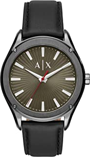 Armani Exchange Quartz Watch with Real Leather Strap AX2806