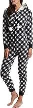 Blis Women's Fleece Onesie - Hooded Zip Up One Piece Pajamas & Sleepwear