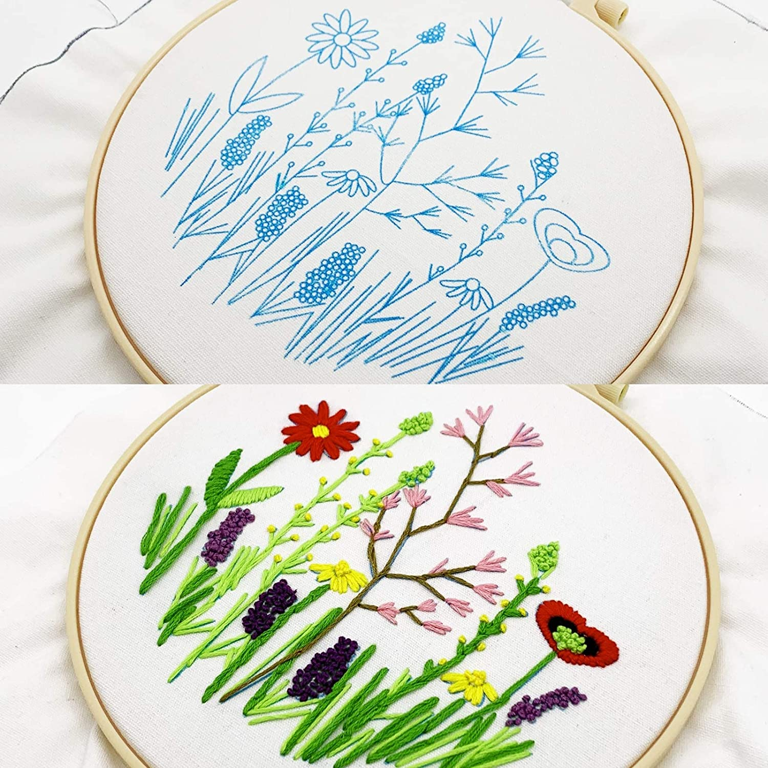 Embroidery 2021 Kit for Beginners Cross Flowe Kits with Stitch Plants Dallas Mall