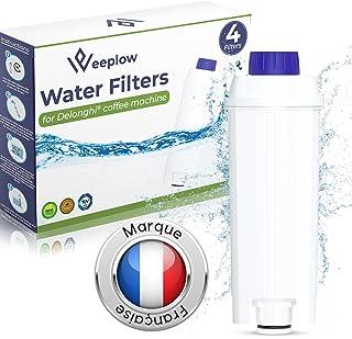 WEEPLOW® - 4 Filtres à Eau Compatibles DLSC002, Delonghi Magnifica, Dinamica, Autentica, Primadonna et toutes les Séries e...