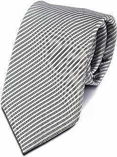 Bergamo Silk Necktie for Men Stripped - Grey and Black Color