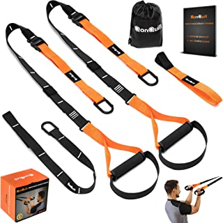 BodyWeight Fitness Training Kit | Resistance Straps Trainer for Full Body Strength| Multiple Anchoring Solutions with Easy Setup for Home, Gym & Outdoor Workouts