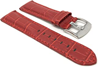 20mm - 22mm Alligator Style Universal Smartwatch Band Strap, Leather