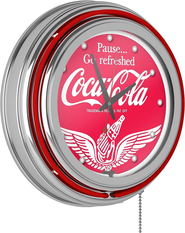 Wings Coca Cola Neon Clock - Two Neon Rings