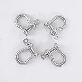2 Web Sling Shackle Clevis w//Safety Nut HDG for Lifting Sling Straps WLL 8050 LBS Breskng Strength 32200 LBS