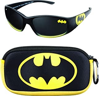 DC Batman Kids Sunglasses with Matching Glasses Carrying...