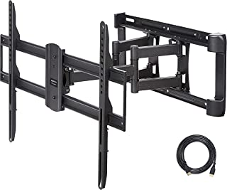 AmazonBasics Dual Arm Full Motion TV Mount, 37-Inch to 80-Inch, S63A, black