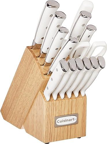 new arrival Cuisinart C77WTR-15P Classic online sale Forged Triple Rivet, 2021 15 Piece Set, White outlet online sale