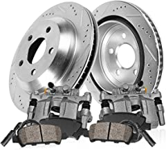 Callahan CCK04598 [2] REAR Original Brake Calipers + [2] Drilled/Slotted Rotors + Ceramic Pads + Hardware + Sensors