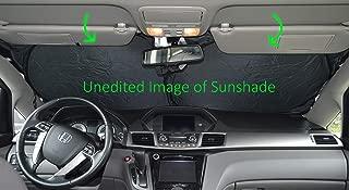 Windshield Sun Shade 240T-Sizechart Images 2-4 Fabric Selection-Chart for Car SUV Trucks Minivans Sunshades Keeps Your Vehicle Cool Heat Shield (XXL)