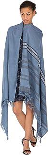 likemary Merino Wool Wrap & Blanket Scarf Fairtrade Pashmina Handwoven Stripes