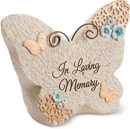 Pavilion Gift Company Light Your Way Memorial - in Loving Memory Memorial Butterfly Rock, Solid