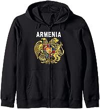 Armenian National Coat of Arms Emblem Zip Hoodie