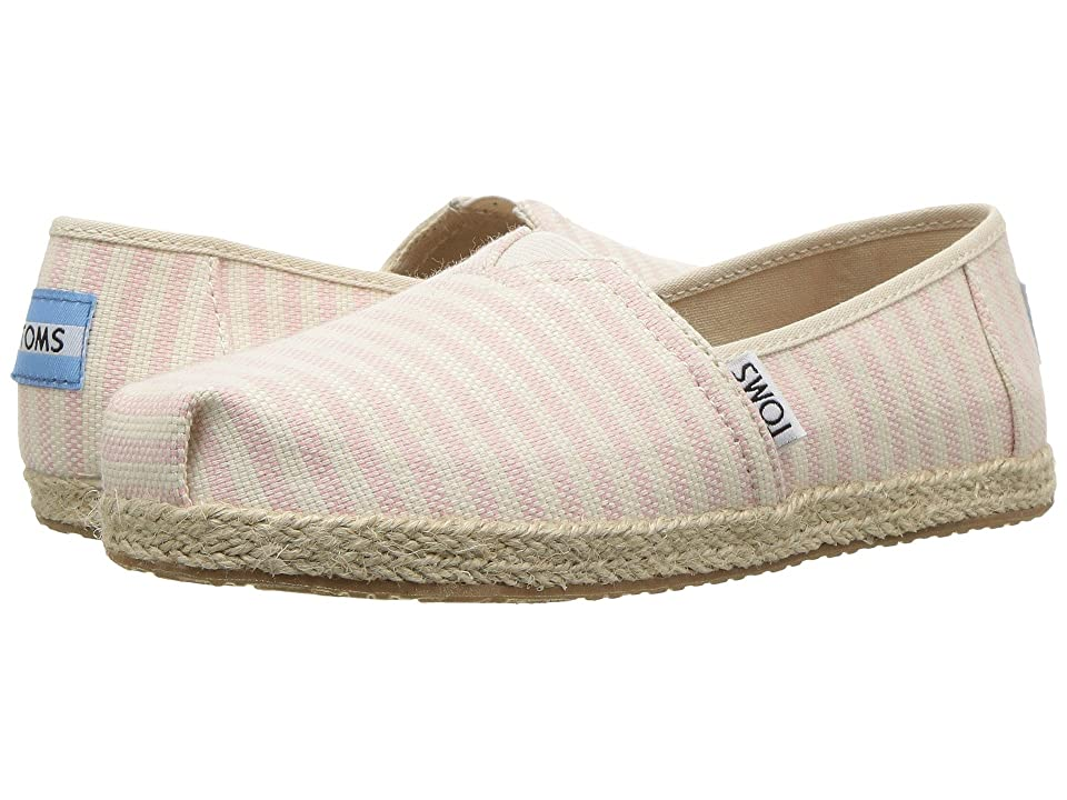 TOMS Kids Alpargata (Little Kid/Big Kid) (Blossom Woven Stripe Rope Sole) Girl