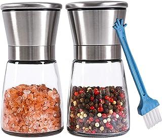 Premium Salt and Pepper Grinder Set of 2 – Refillable Coarseness Adjustable..