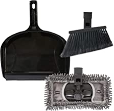 """SWOPT 12"""" Dust Pan Cleaning Set, Indoor Cleaning Set Includes SWOPT Standard Angle Broom, 12"""" Dust Mop and Plastic Dust Pan"""