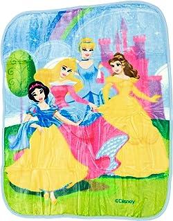 "Disney Princess Royal Plush Raschel Throw ""Beaming Beauties"""