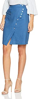 Oxford Women Bamonte Linen Stud Skirt