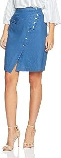 Oxford Women Bamonte Linen Stud Skirt