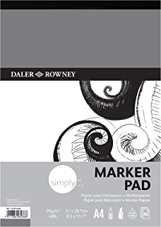 Daler Rowney Simply A4 Marker Pad 40 sheet 70gsm