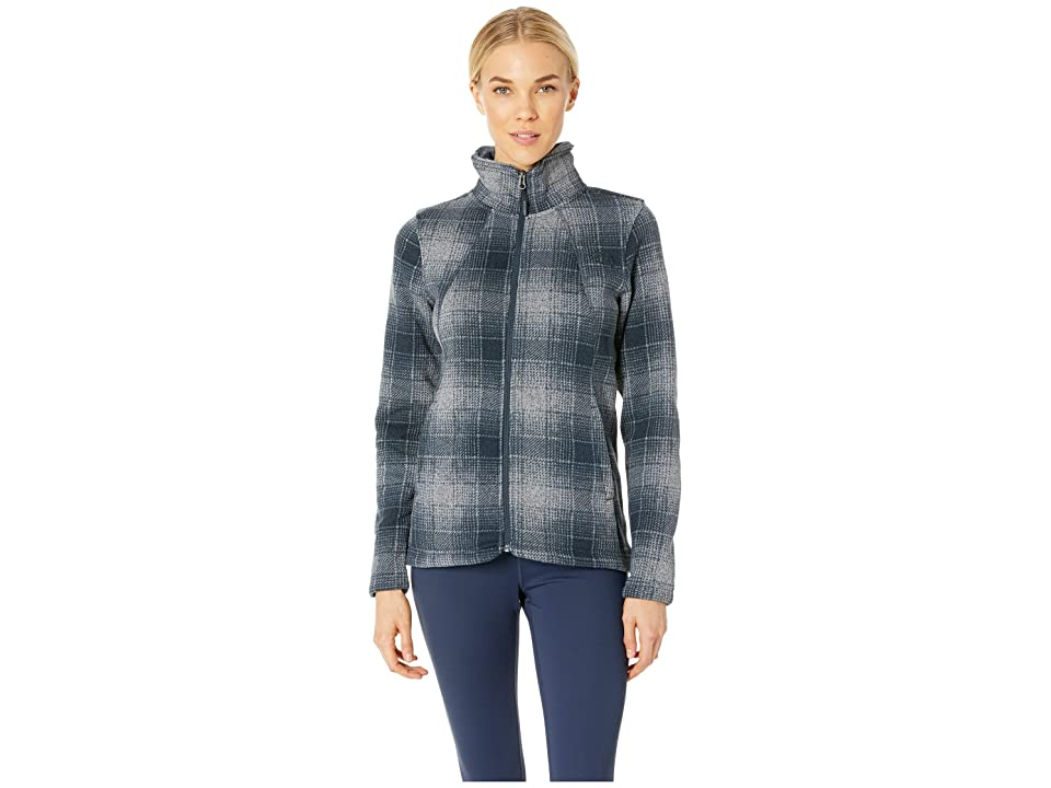 The North Face Crescent Full Zip (Mid Grey Ombre Plaid) Women