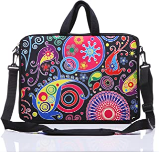 "YIDA 10-Inch Laptop Shoulder Sleeve Case and Tablet Bag for Most 9.7"" 10"" 10.1"" 10.2"" Ipad/Notebook/eBook/Readers (Classic Colourful)"