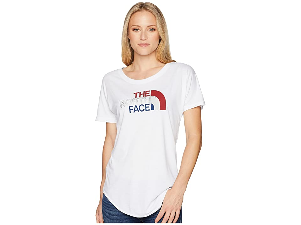 The North Face Americana Track Tee (TNF White Heather) Women