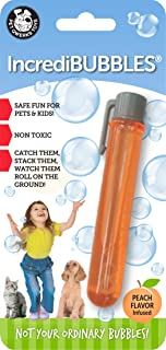 Pet Qwerks Incredibubbles for Cats & Dogs - Long Lasting Bubbles with Non-Toxic Formula, Avoids Boredom & Keeps Pets Active   Best for Outdoor Use