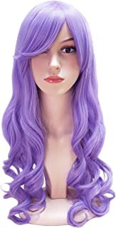 Another Me Wig Women's Long Big Wavy Hair 25 Inches Bubble Gum Light Purple Ultra Soft Heat Resistant Fiber Party Cosplay Accessories